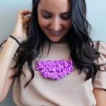 Делаем украшение — ожерелье из ткани на шею