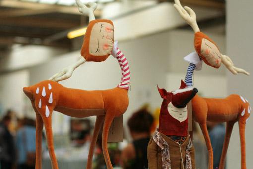 Текстильные игрушки олени