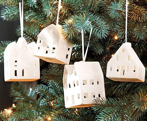 Фарфоровые домики на елку