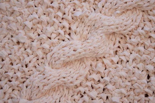 вязанные коврики спицами