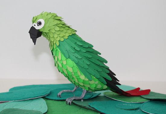Птицы из цветной бумаги