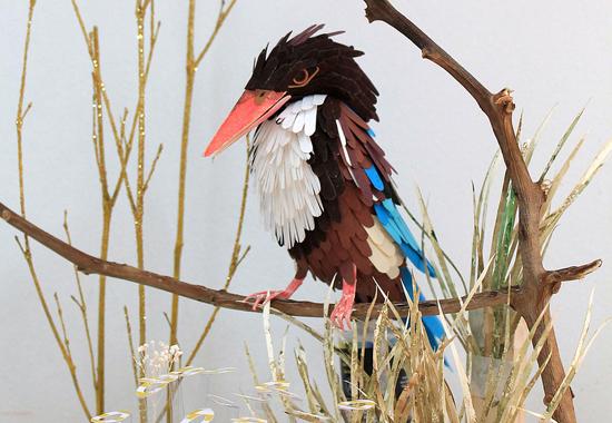 Объемные птицы из бумаги