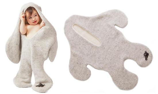 Халат-полотенце детский
