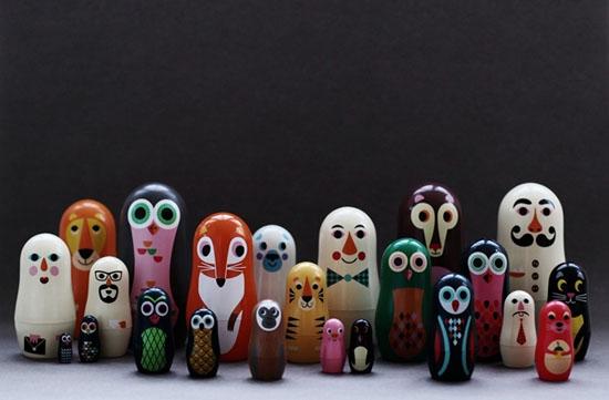 Дизайнерские матрешки игрушки для детей