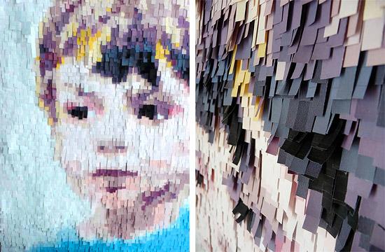 Портрет ребенка из полосок цветной бумаги своими руками