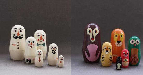 Необычные персонажи матрешки