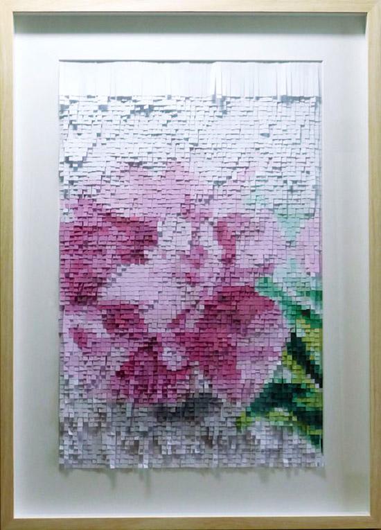 Объемные картины из бумаги цветы