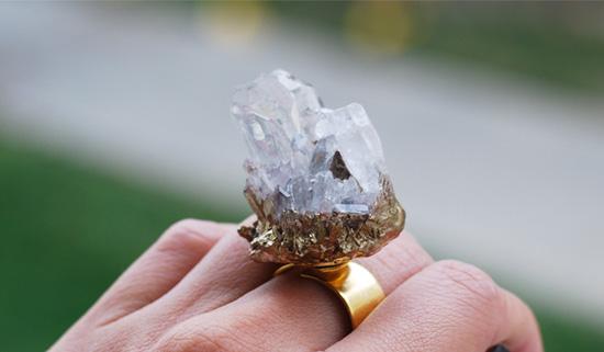 Перстень с натуральным камнем своими руками