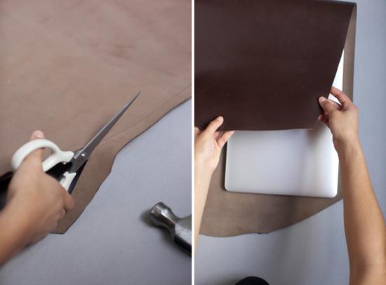 Чехол для ноутбука своими руками из кожи
