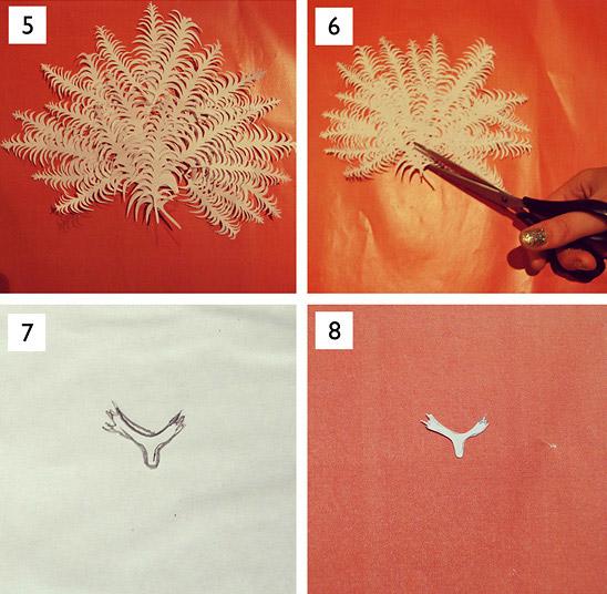 Как сделать птицу из бумаги для украшения блюд из овощей и фруктов