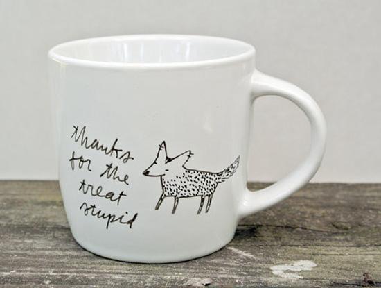 Стихи и поздравления на чашках и посуде