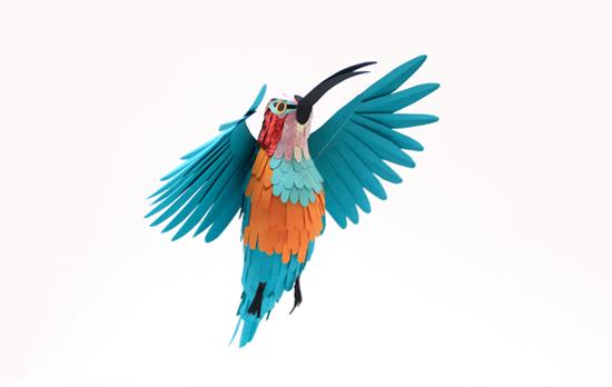 Птицы из цветной бумаги своими