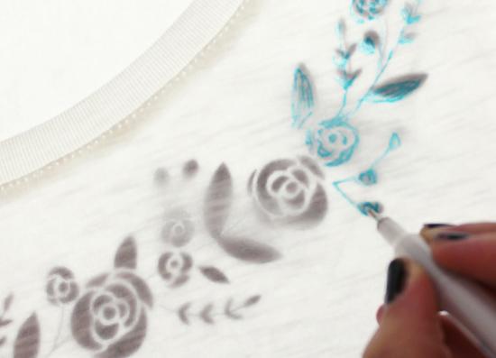 Цветочный орнамент для вышивки гладью