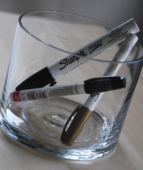 Расписываем стеклянную посуду, вазы, бокалы, чашки своими руками маркером