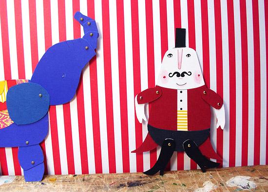 Кукольный театр цирк из бумаги своими руками