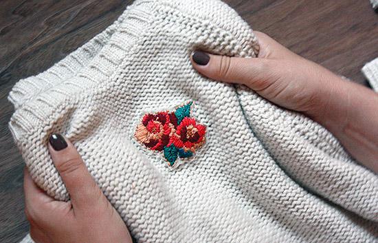 Украшение одежды вышивкой мастер класс