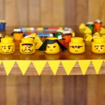 Декор стеклянной банки в стиле Lego
