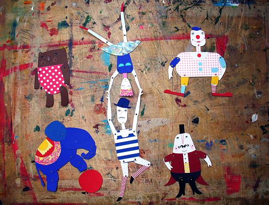Куклы из картона и цветной бумаги на шарнирах своими руками
