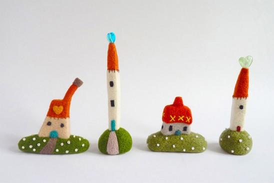 миниатюрных домиков и пейзажей