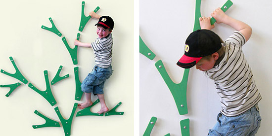 Шведская стенка своими руками в виде дерева в детскую