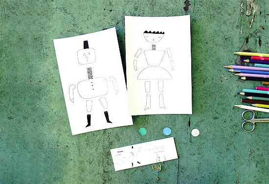 Поделки бумажных кукол вместе с детьми своими руками