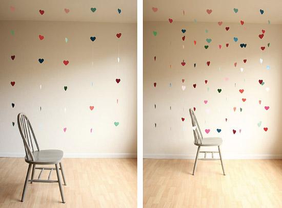 Гирлянда для украшения комнаты на день всех влюбленных