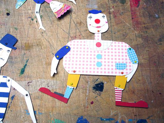 Поделки из бумаги шарнирные куклы своими руками
