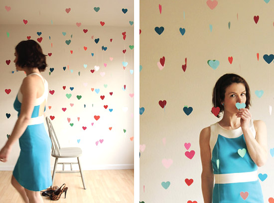 Поздравления на день святого Валентина на сердечках