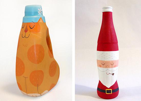 Игрушки из бутылок и банок своими руками