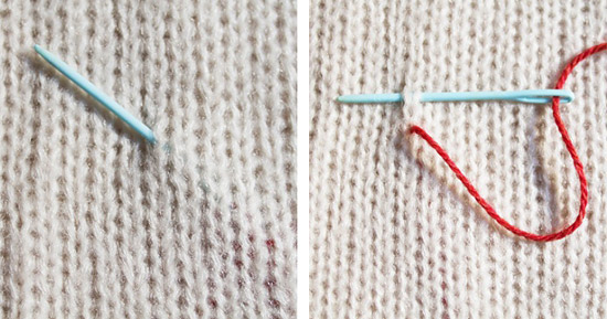 Вышивка на вязанной одежде