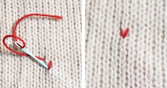 Вышиваем рисунок на свитере