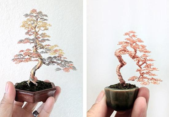 Дерево бонсай из проволоки