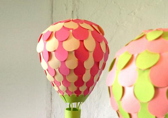 объемные поделки воздушный шар из бумаги