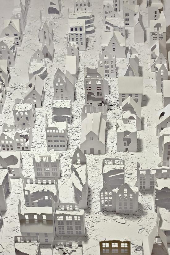 объемные домики из бумаги