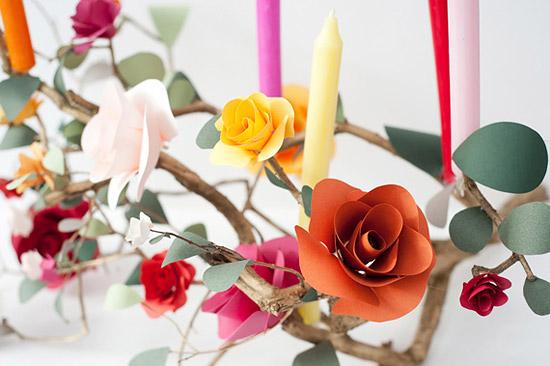 поделки из бумаги цветы розы