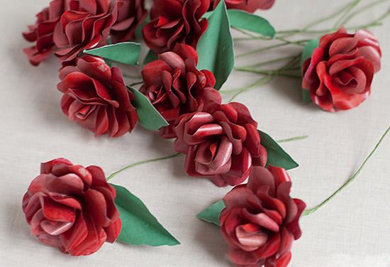 роза из бумаги объемная