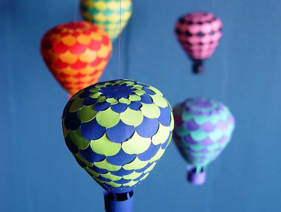 объемные фигуры воздушных  шаров  из бумаги