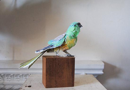 попугай из бумаги