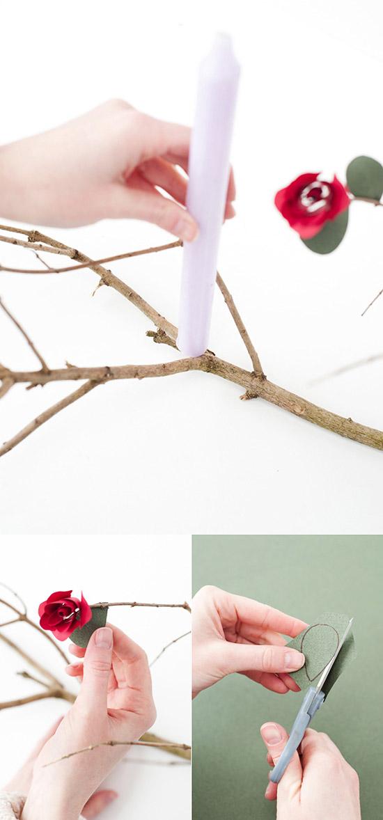 Поделки из роз на бумаге 45