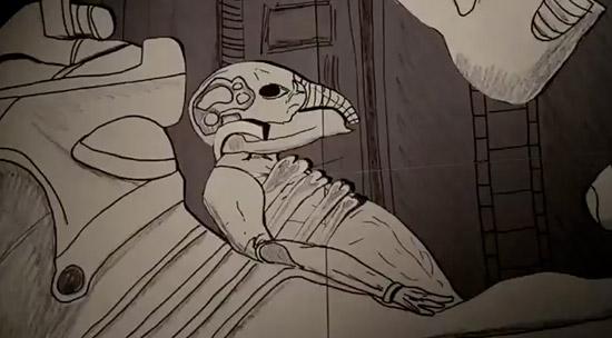 """необычные поделки видео мультфильм """"Прометей"""" из бумаги"""