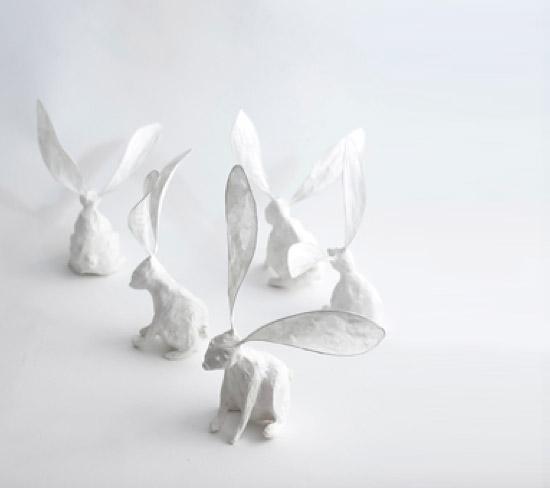 заяц из бумаги
