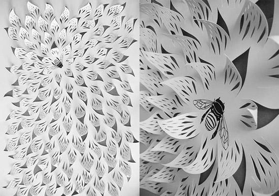 поделки из бумаги вытынанки цветы