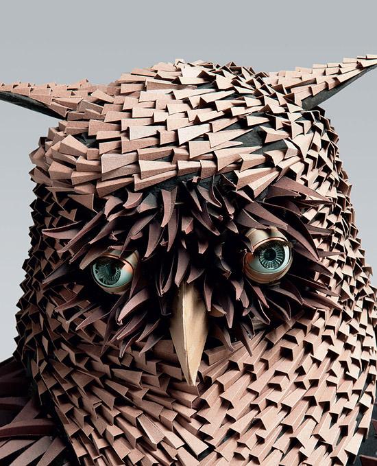 поделки из бумаги птица сова