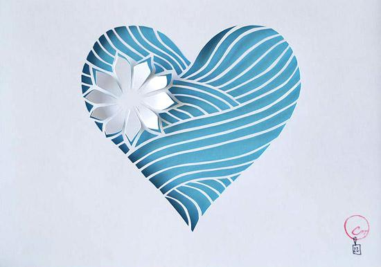 сердечки вырезанные своими руками из бумаги