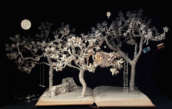 интересные поделки из бумаги с объемными деревьями