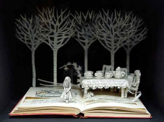 интересные поделки Алиса в стране чудес из бумаги