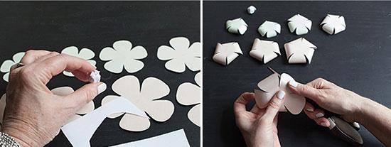 поделки из бумаги цветы