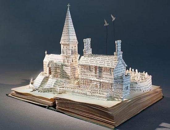 объемный сказочный замок из бумаги