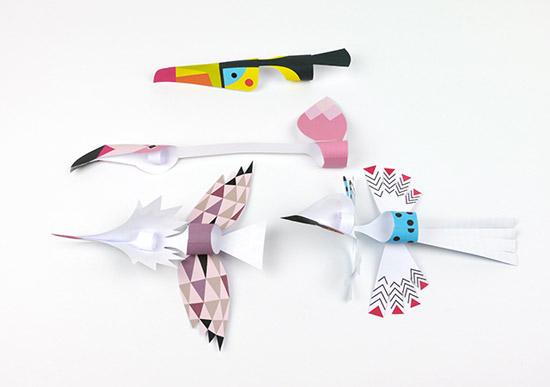 птицы из бумаги детские поделки