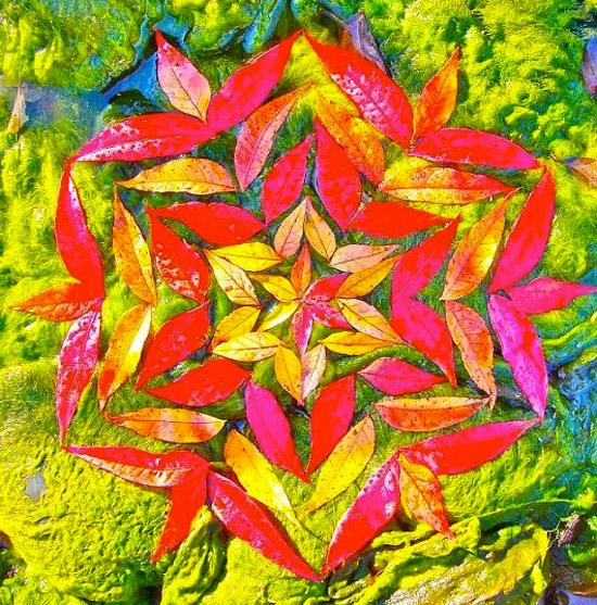 оригинальные поделки из природного материала land art